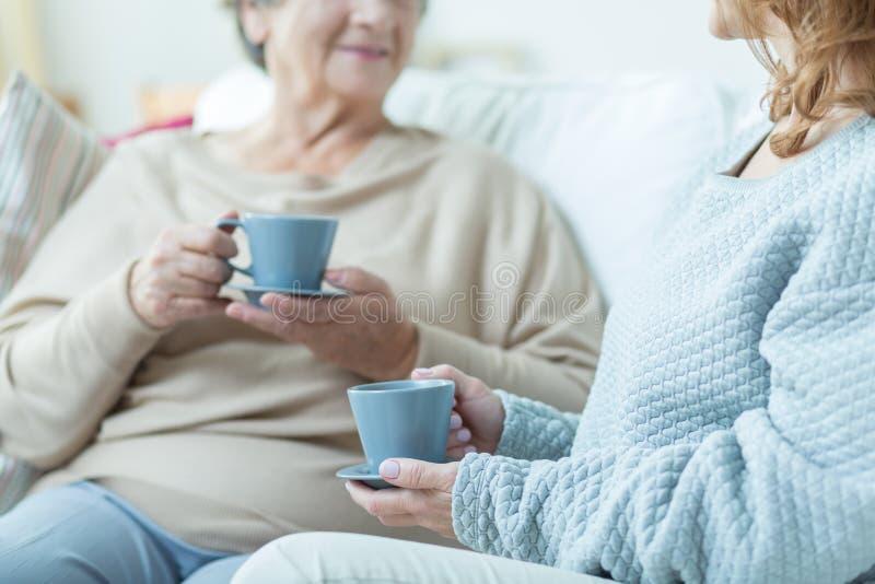 ηλικιωμένες δύο γυναίκε&s στοκ εικόνα