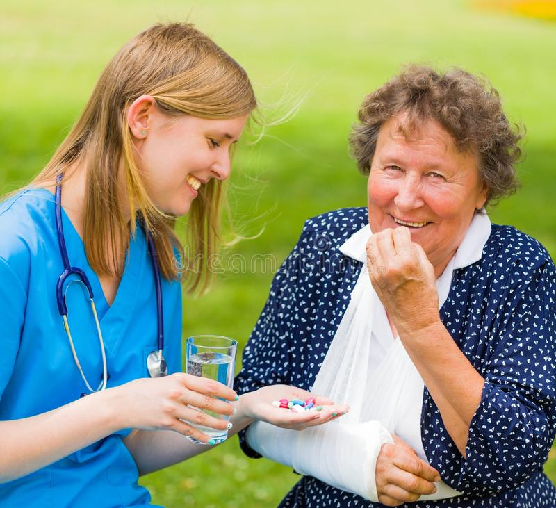 Ηλικιωμένη υγεία γυναικών στοκ φωτογραφία με δικαίωμα ελεύθερης χρήσης