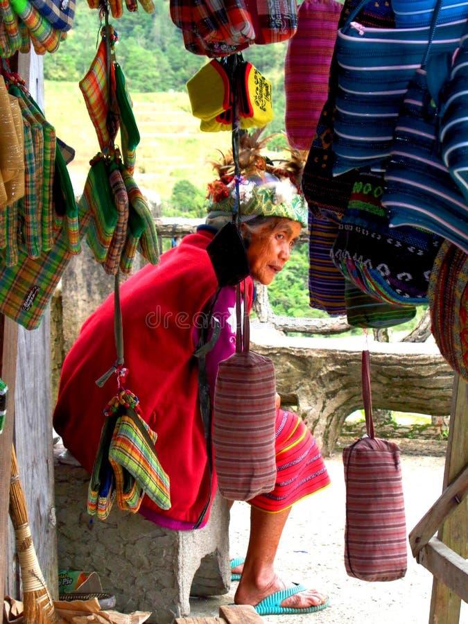 Ηλικιωμένη φιλιππινέζικη γυναίκα στοκ φωτογραφίες