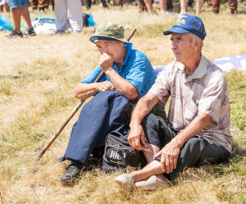Ηλικιωμένοι θεατές στο φεστιβάλ Rozhen 2015 στοκ εικόνες με δικαίωμα ελεύθερης χρήσης