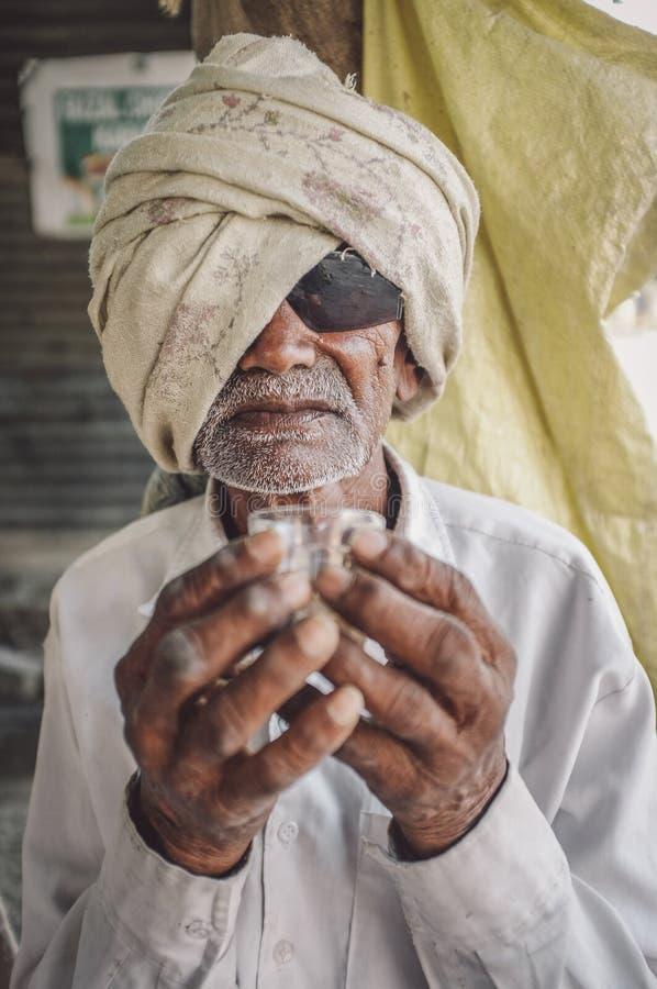 ηλικιωμένο ινδικό άτομο στοκ φωτογραφίες