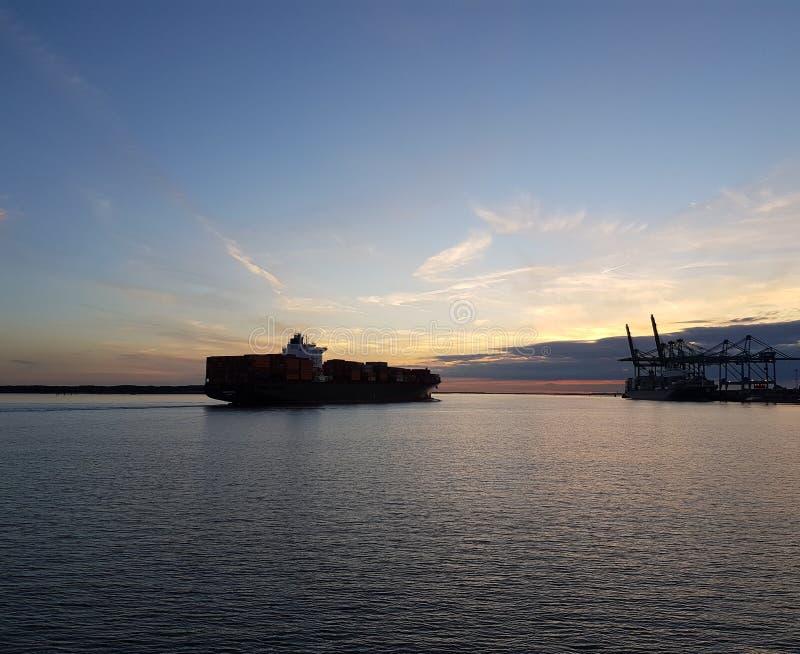 Ηλιοβασίλεμα Αμβέρσα στοκ εικόνα