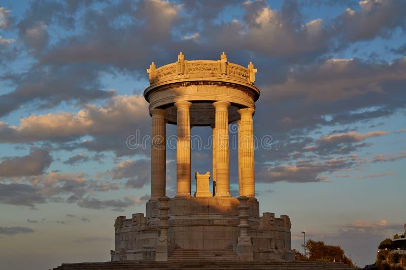 Ηλιοβασίλεμα Ανκόνα Ιταλία Passeto στοκ εικόνα με δικαίωμα ελεύθερης χρήσης