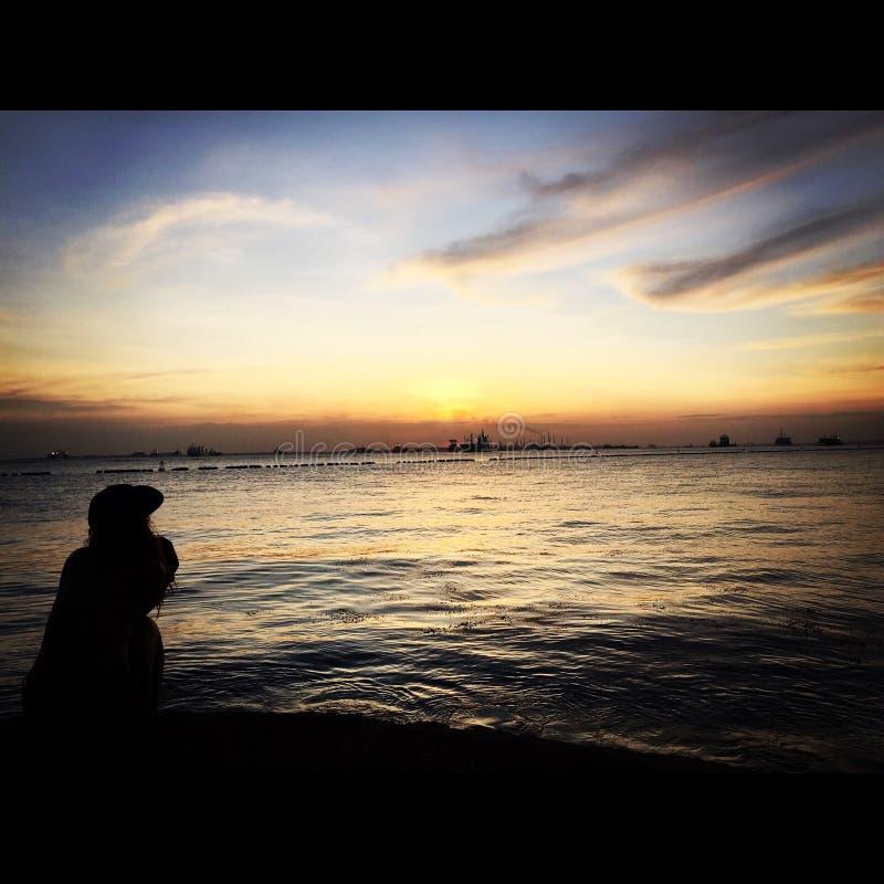 Ηλιοβασίλεμα από τον κόλπο στοκ φωτογραφία