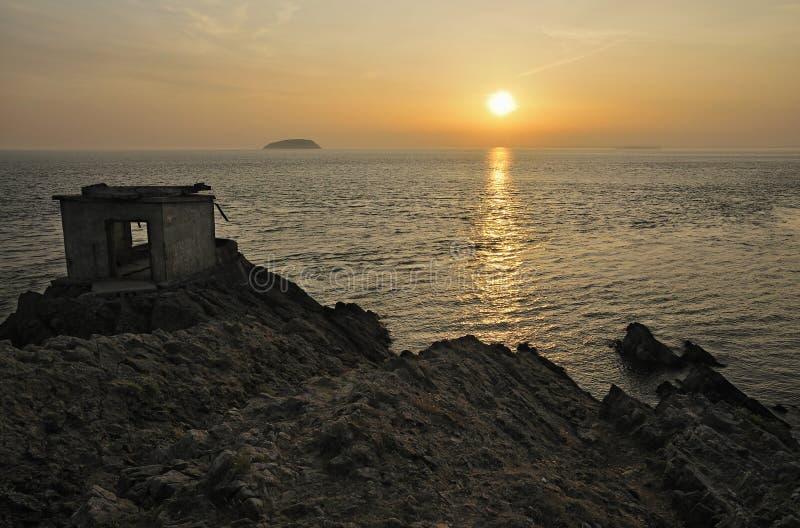 Ηλιοβασίλεμα από Brean κάτω στοκ εικόνα με δικαίωμα ελεύθερης χρήσης