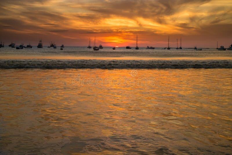Ηλιοβασίλεμα από SAN Juan del sur, Νικαράγουα στοκ εικόνες με δικαίωμα ελεύθερης χρήσης
