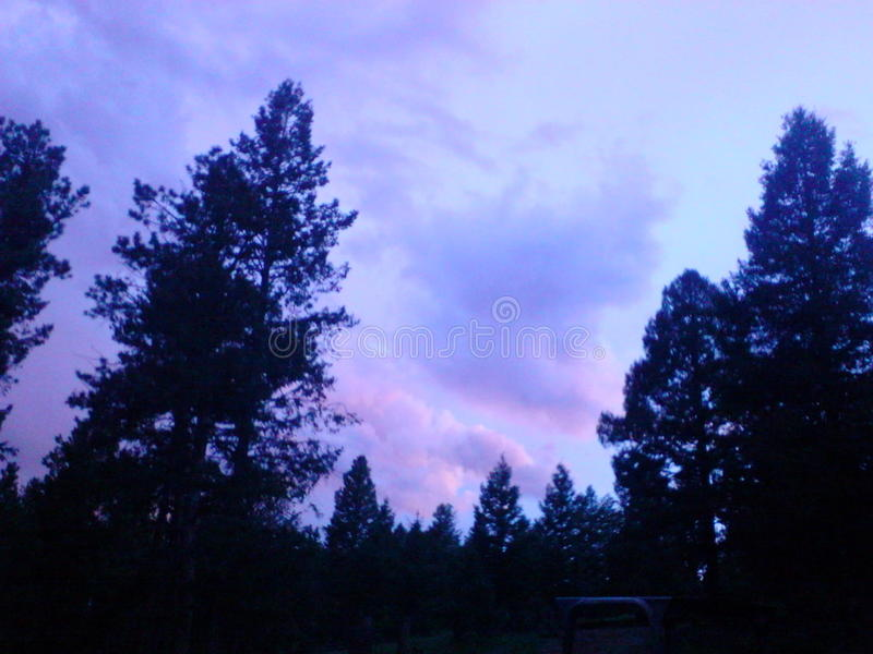 Ηλιοβασίλεμα καραμελών βαμβακιού στοκ εικόνες με δικαίωμα ελεύθερης χρήσης