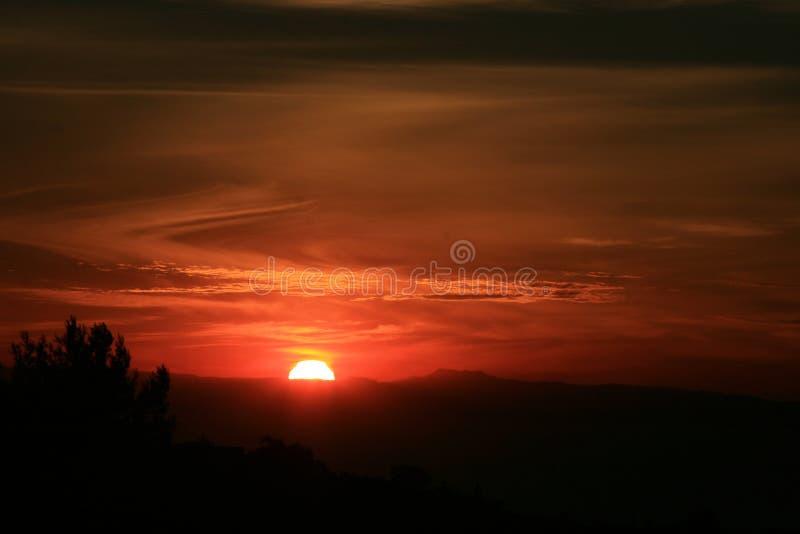 ηλιοβασίλεμα Καλιφόρνιας στοκ φωτογραφίες