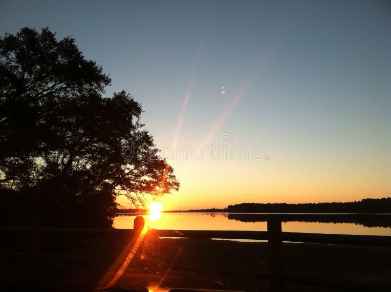 Ηλιοβασίλεμα κόλπων στοκ εικόνες με δικαίωμα ελεύθερης χρήσης