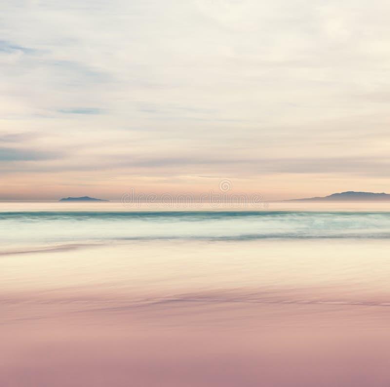 Ηλιοβασίλεμα νησιών καναλιών στοκ εικόνα με δικαίωμα ελεύθερης χρήσης