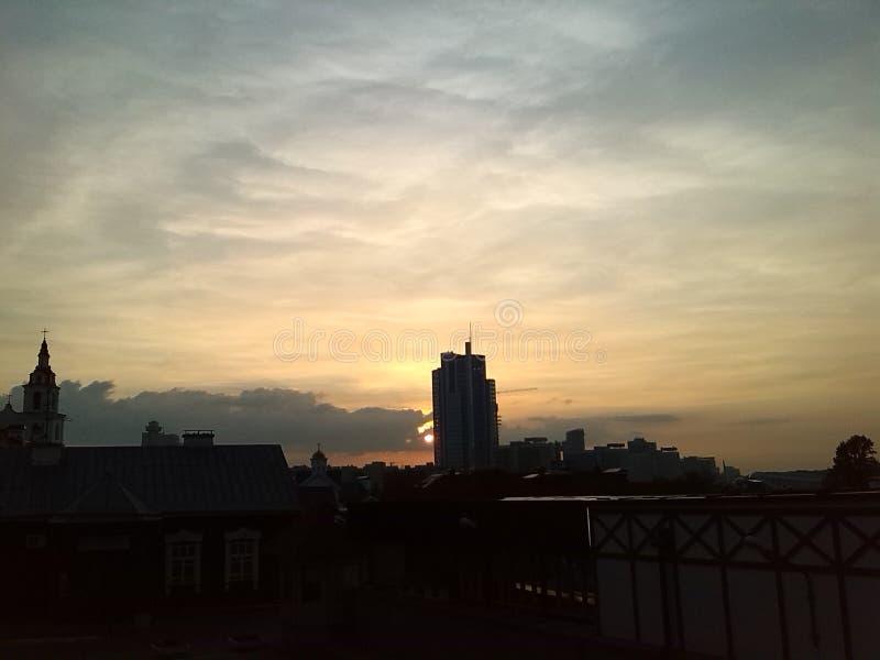 Ηλιοβασίλεμα Οδοί του Μινσκ στοκ εικόνες