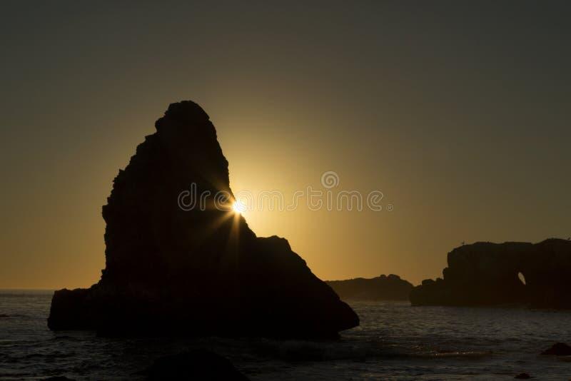 Ηλιοβασίλεμα παραλιών της Shell στοκ εικόνες