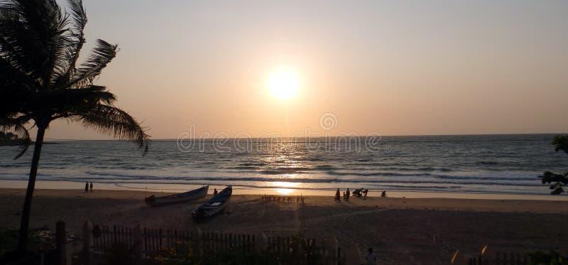 Ηλιοβασίλεμα παραλιών Chivla στοκ εικόνες