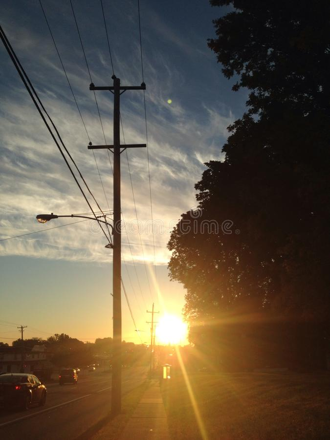 ηλιοβασίλεμα περίπατων στοκ φωτογραφία με δικαίωμα ελεύθερης χρήσης
