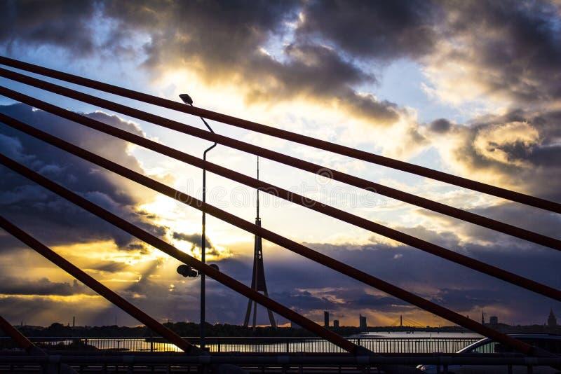 Ηλιοβασίλεμα πριν από τη θύελλα στοκ φωτογραφίες με δικαίωμα ελεύθερης χρήσης
