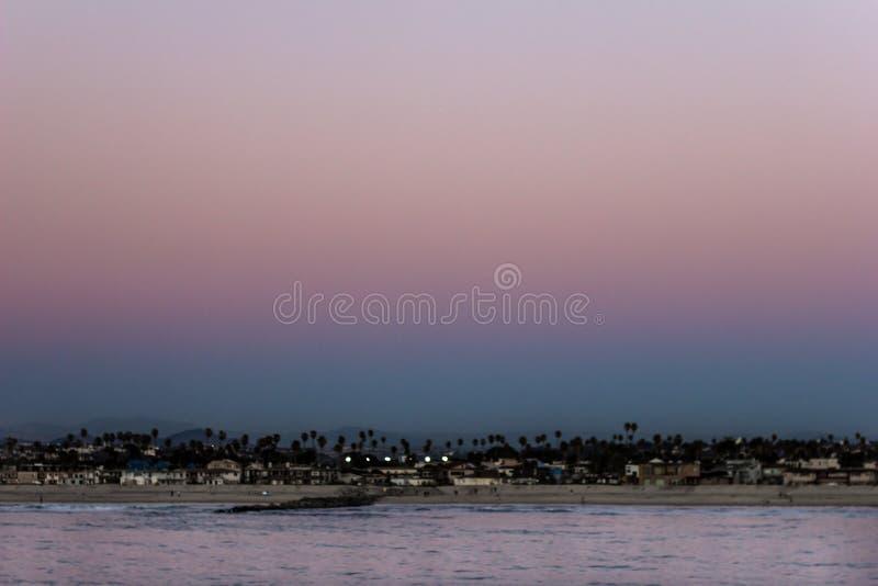 Ηλιοβασίλεμα, Σαν Ντιέγκο στοκ εικόνες με δικαίωμα ελεύθερης χρήσης