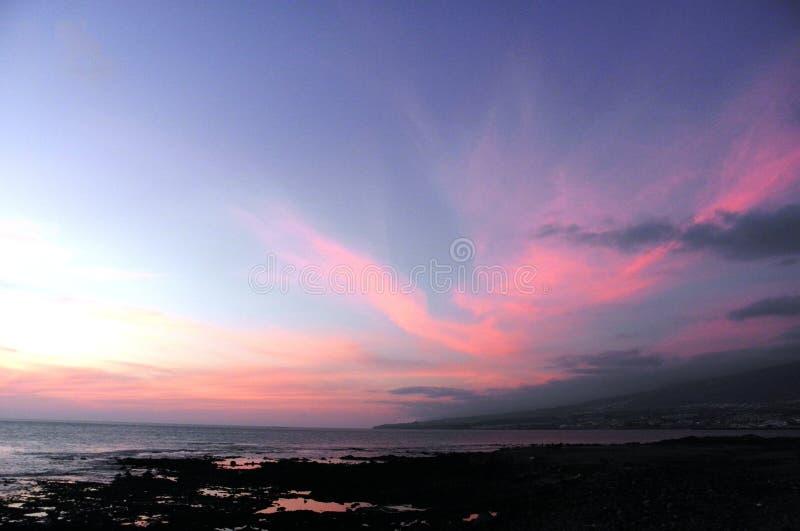Ηλιοβασίλεμα σε Las Αμερική στοκ φωτογραφία με δικαίωμα ελεύθερης χρήσης