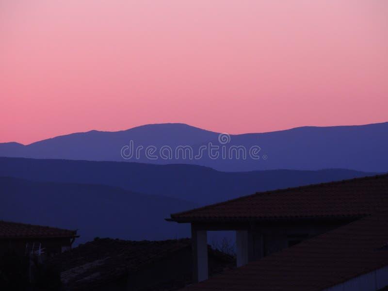 Ηλιοβασίλεμα σε Puerto de bejar στοκ φωτογραφίες με δικαίωμα ελεύθερης χρήσης