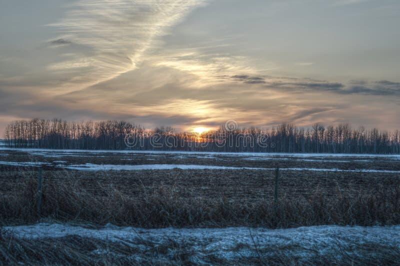 Ηλιοβασίλεμα σε Vegreville 2 στοκ εικόνες με δικαίωμα ελεύθερης χρήσης