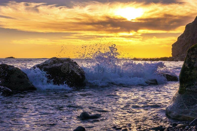 Ηλιοβασίλεμα, σημείο της Dana, Καλιφόρνια στοκ εικόνες