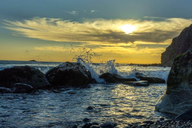 Ηλιοβασίλεμα, σημείο της Dana, Καλιφόρνια στοκ εικόνα με δικαίωμα ελεύθερης χρήσης
