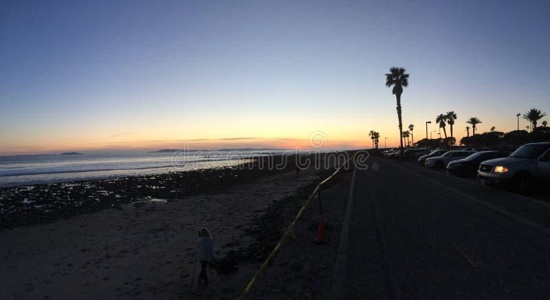 Ηλιοβασίλεμα σημείων κυματωγών γ-οδών στοκ φωτογραφίες με δικαίωμα ελεύθερης χρήσης