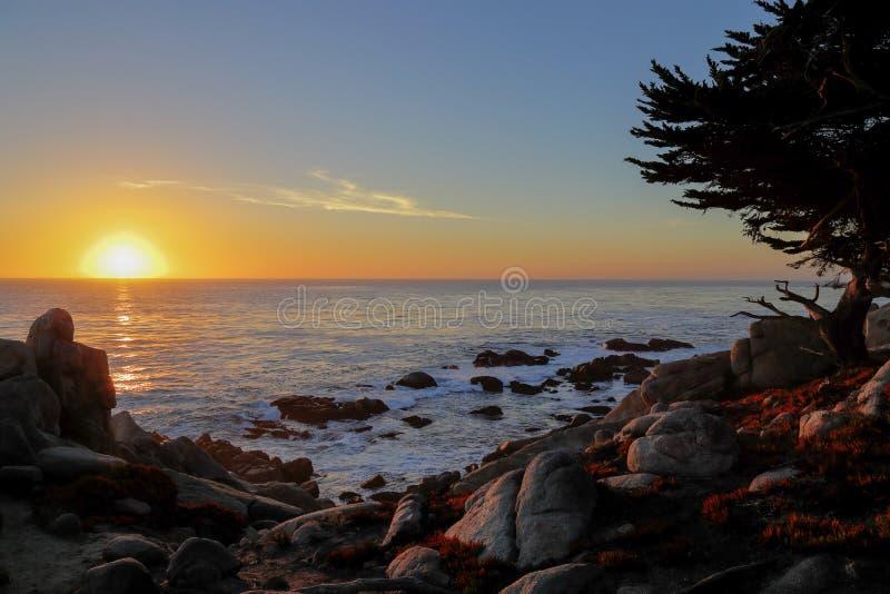 Ηλιοβασίλεμα στην κίνηση 17 μιλι'ου στοκ εικόνες