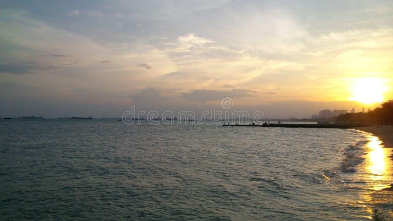 Ηλιοβασίλεμα στην παραλία στοκ φωτογραφίες