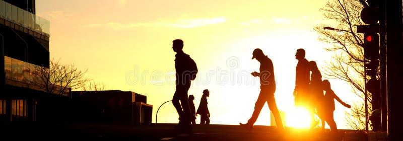Ηλιοβασίλεμα στην πόλη Aucland στοκ φωτογραφία με δικαίωμα ελεύθερης χρήσης