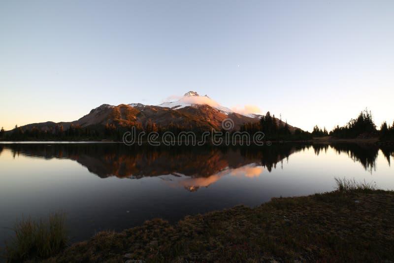Ηλιοβασίλεμα στη λίμνη Russel στοκ φωτογραφία με δικαίωμα ελεύθερης χρήσης