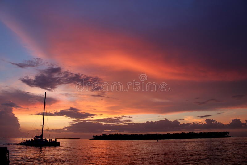 Ηλιοβασίλεμα στη Key West στοκ εικόνες