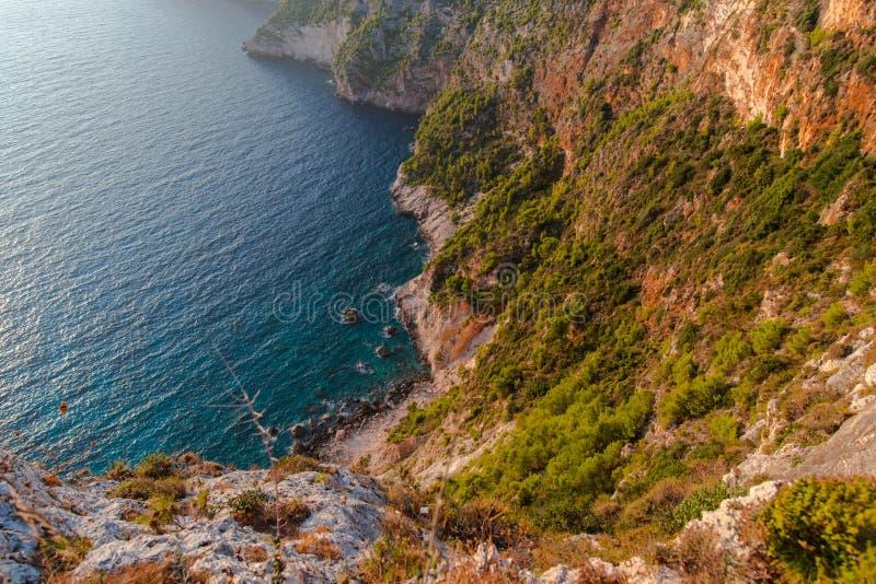 Ηλιοβασίλεμα στη mediteranean θάλασσα στοκ εικόνες με δικαίωμα ελεύθερης χρήσης