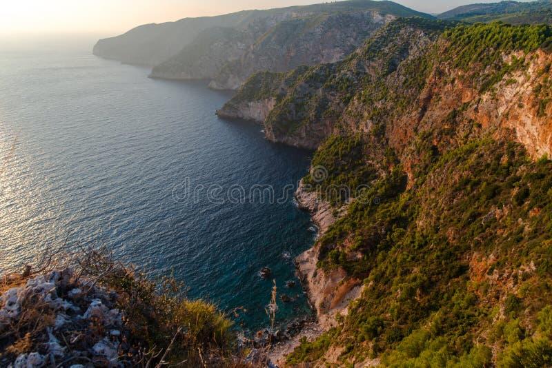 Ηλιοβασίλεμα στη mediteranean θάλασσα στοκ εικόνα με δικαίωμα ελεύθερης χρήσης