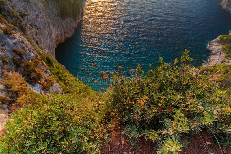 Ηλιοβασίλεμα στη mediteranean θάλασσα στοκ φωτογραφία