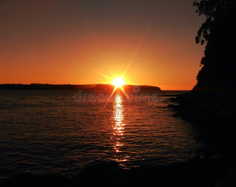 Ηλιοβασίλεμα στον παράδεισο στοκ φωτογραφίες