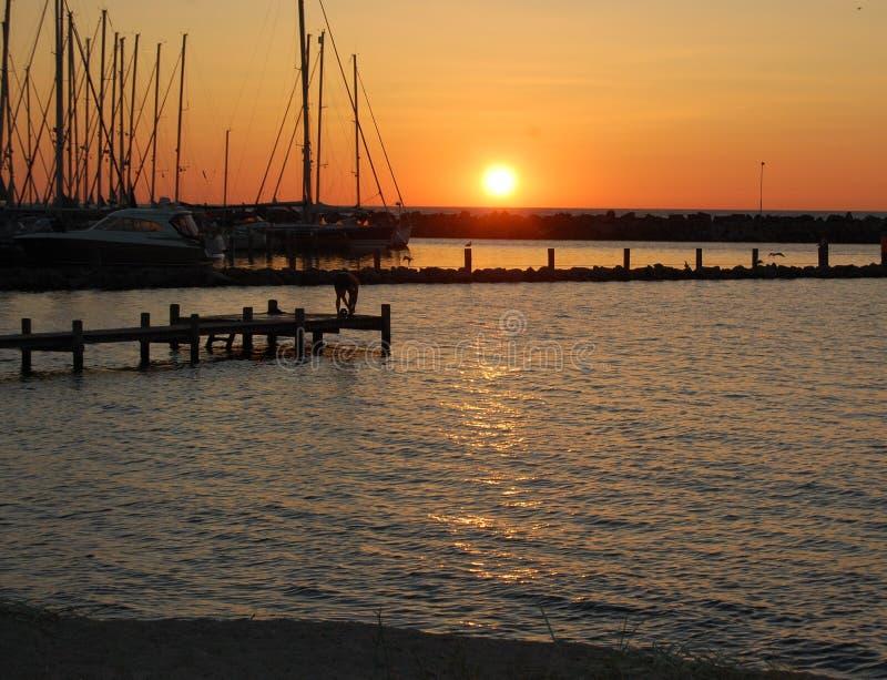 Ηλιοβασίλεμα στο νησί Bornholm στοκ φωτογραφία με δικαίωμα ελεύθερης χρήσης