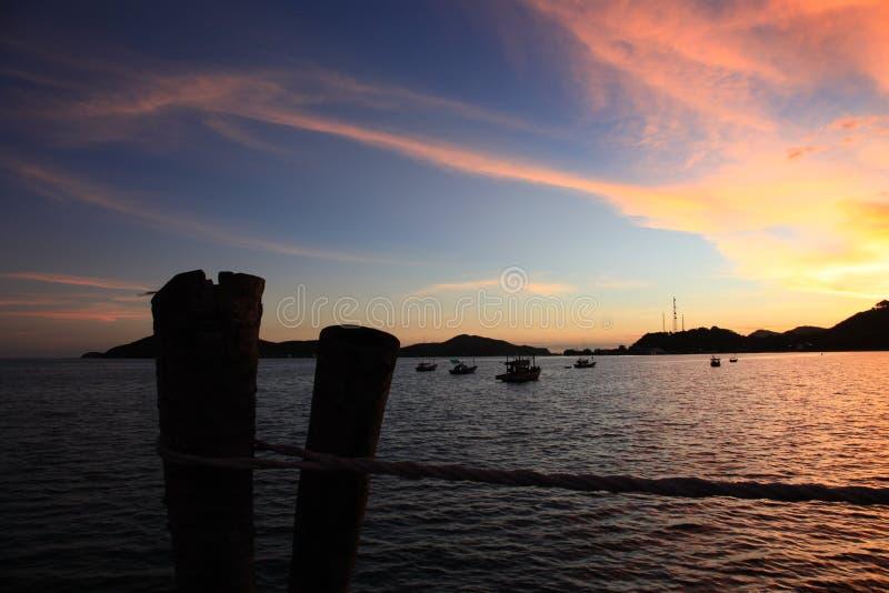 ηλιοβασίλεμα στο sattahip στοκ φωτογραφίες με δικαίωμα ελεύθερης χρήσης