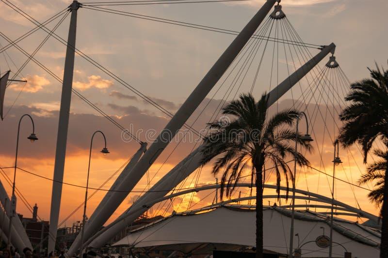 ηλιοβασίλεμα της Γένοβ&alpha στοκ φωτογραφία με δικαίωμα ελεύθερης χρήσης