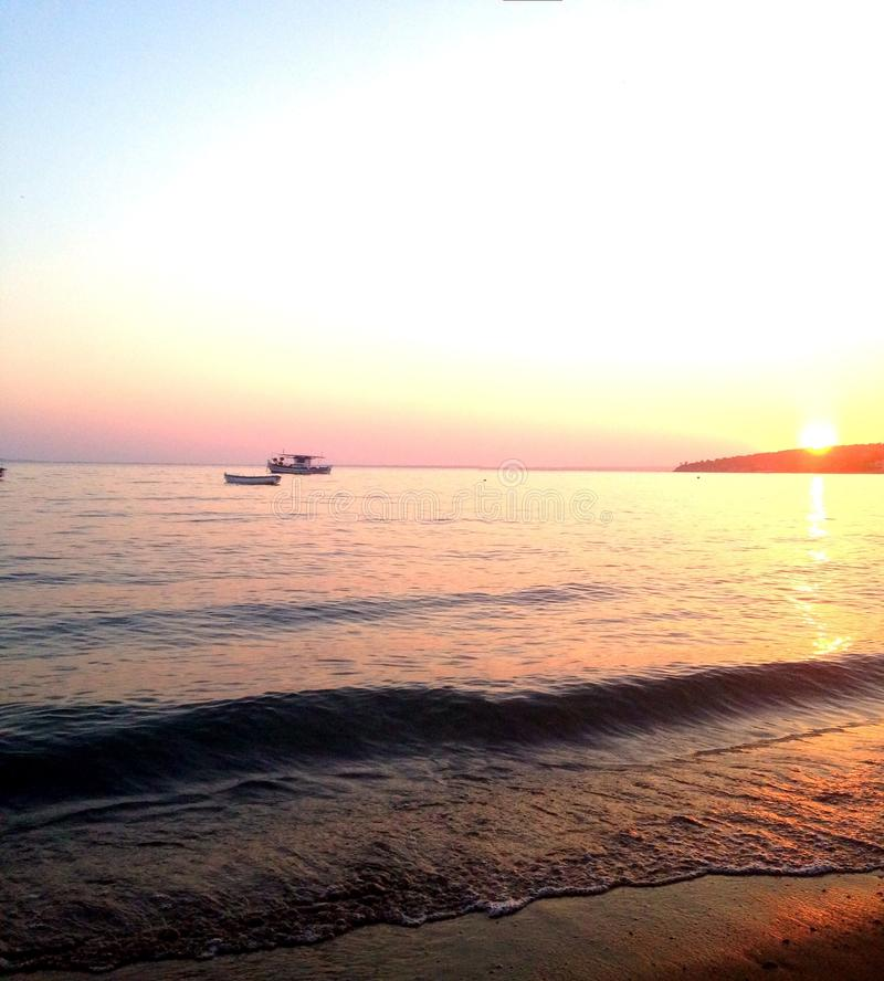 ηλιοβασίλεμα της Ελλάδας στοκ φωτογραφίες