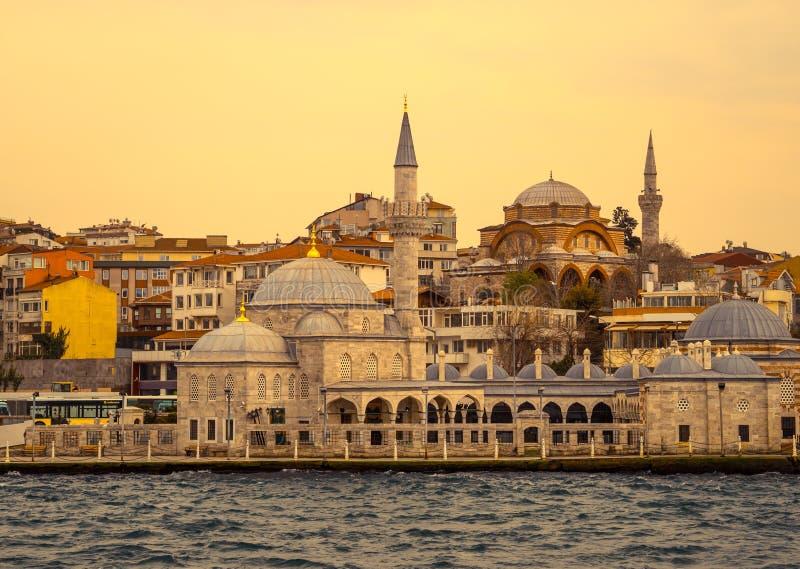 ηλιοβασίλεμα της Κωνσταντινούπολης στοκ φωτογραφία με δικαίωμα ελεύθερης χρήσης
