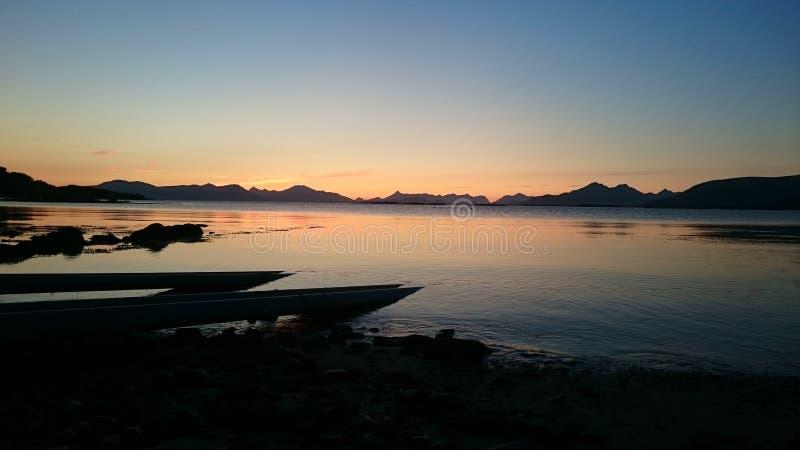 ηλιοβασίλεμα της Νορβηγίας στοκ φωτογραφία με δικαίωμα ελεύθερης χρήσης