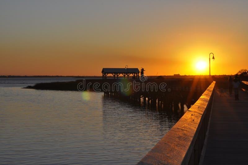 Ηλιοβασίλεμα της νότιας Καρολίνας στοκ εικόνες