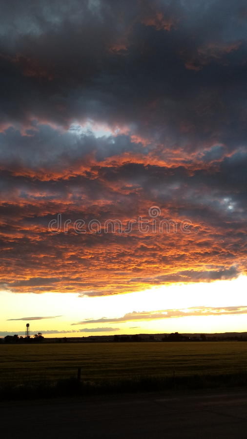 Ηλιοβασίλεμα της Montanna στοκ φωτογραφία με δικαίωμα ελεύθερης χρήσης