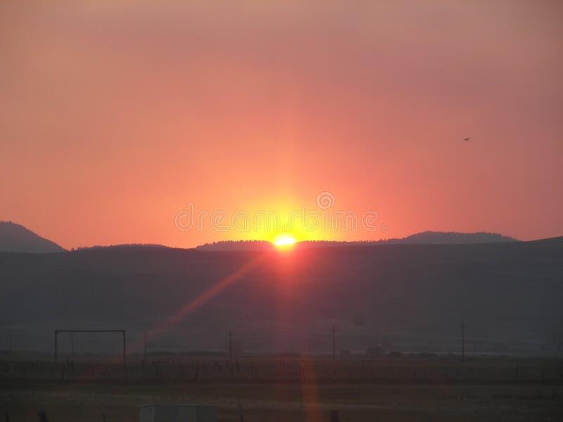 Ηλιοβασίλεμα του Αϊντάχο στοκ εικόνα