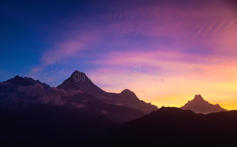 ηλιοβασίλεμα του Ιμαλ&al στοκ φωτογραφίες με δικαίωμα ελεύθερης χρήσης
