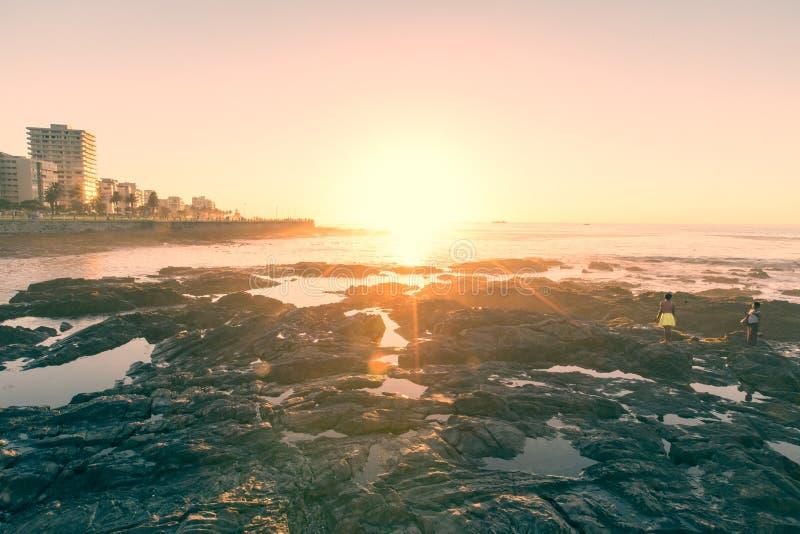 Ηλιοβασίλεμα του Καίηπ Τάουν στοκ εικόνες