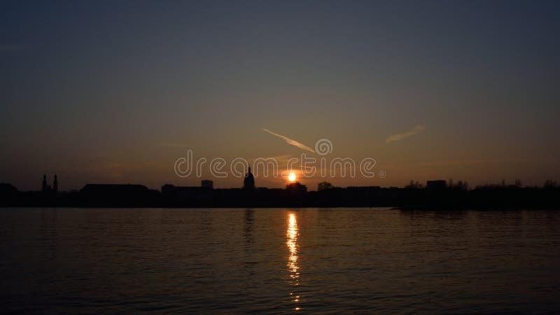 Ηλιοβασίλεμα του Μάιντς στοκ εικόνες