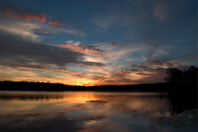 Ηλιοβασίλεμα του Μπρίσμπαν στοκ εικόνες