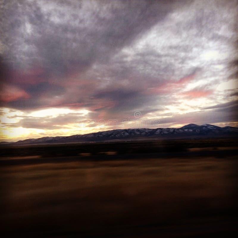 Ηλιοβασίλεμα του Ουαϊόμινγκ στοκ εικόνα με δικαίωμα ελεύθερης χρήσης