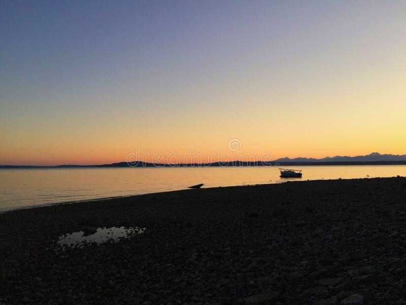 Ηλιοβασίλεμα του Σιάτλ στοκ εικόνες
